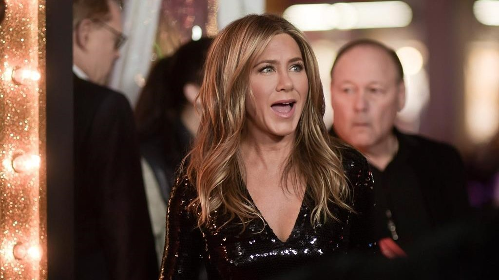 "Jennifer Aniston attends the world premiere of ""Dumplin'"" at TCL Chinese Theatre on Thursday, Dec. 6, 2018, in Los Angeles."