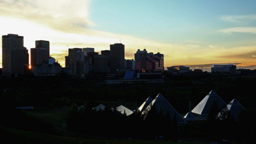 Previews - FIFA Women's World Cup 2015 EDMONTON, AB - JUNE 04: The sun sets behind Muttart Conservatory and downtown on June 4, 2015 in Edmonton, Canada. (Photo by Maddie Meyer - FIFA/FIFA via Getty Images)