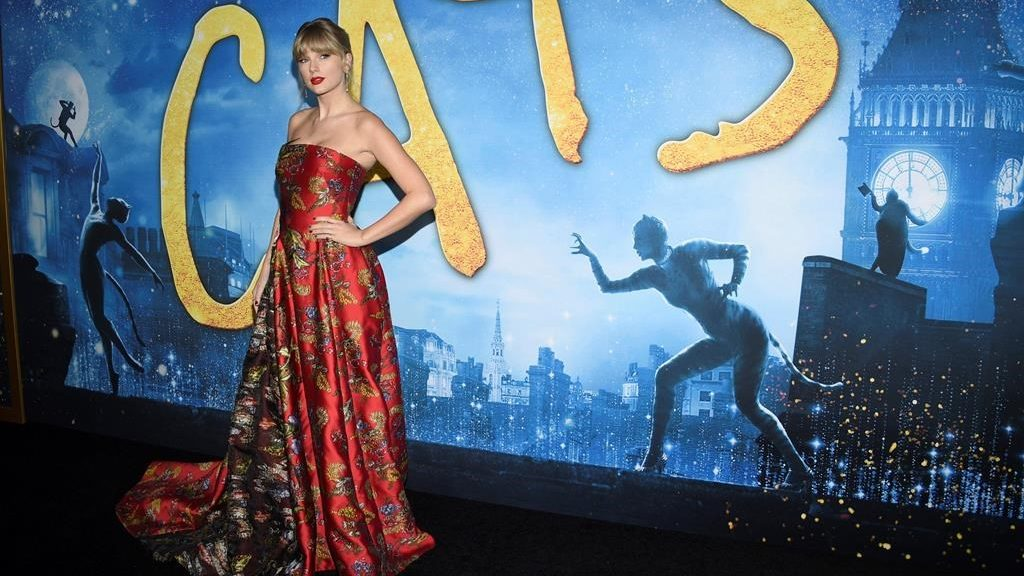 "Taylor Swift attends the world premiere of ""Cats,"" at Alice Tully Hall, Monday, Dec. 16, 2019, in New York."