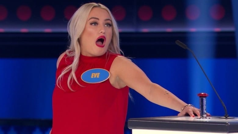 Eve, a recent contestant on Family Feud, has gone viral for hilarious answer, Photo By: Zone3Productions/FamilyFeudCanada