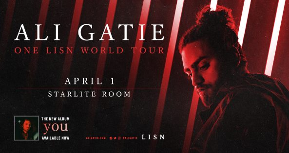 Ali Gatie: One LISN World Tour. Performing live at the Starlite Room April 1