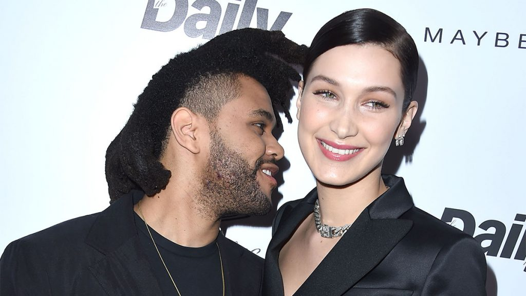 """WEST HOLLYWOOD, CA - MARCH 20: The Weeknd and Bella Hadid arrives at the The Daily Front Row """"Fashion Los Angeles Awards"""" 2016 at Sunset Tower Hotel on March 20, 2016 in West Hollywood, California."""